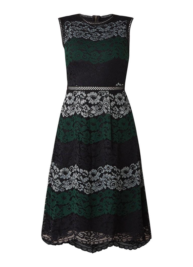 Ted Baker Inarra A-lijn jurk van gebloemd guipure kant zwart