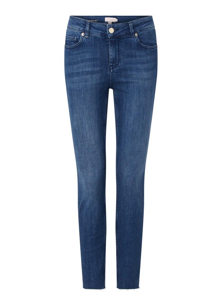 Aaciee high waist skinny fit jeans met gerafelde zoom