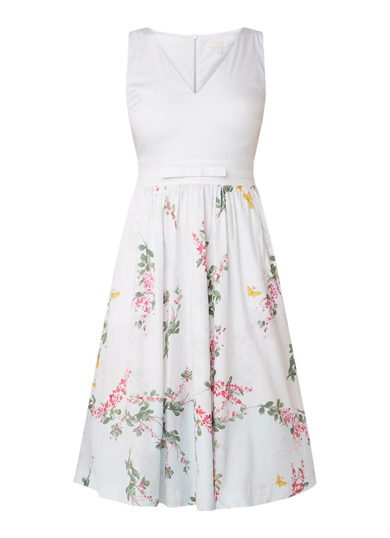 Ted Baker Reyyne mouwloze midi-jurk met bloemendessin wit