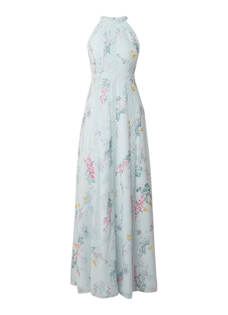 Ted Baker Dahleen maxi-jurk met bloemendessin en detail van kant mint