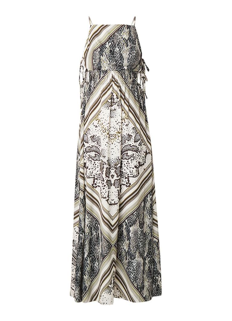 Ted Baker Izidora maxi-jurk met dessin en zijsplits taupe
