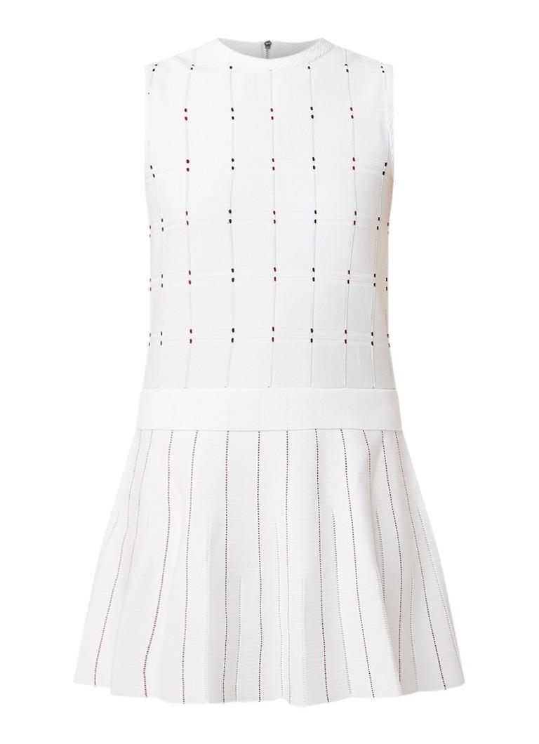 Ted Baker Lornia fijngebreide mini-jurk met streepdessin wit