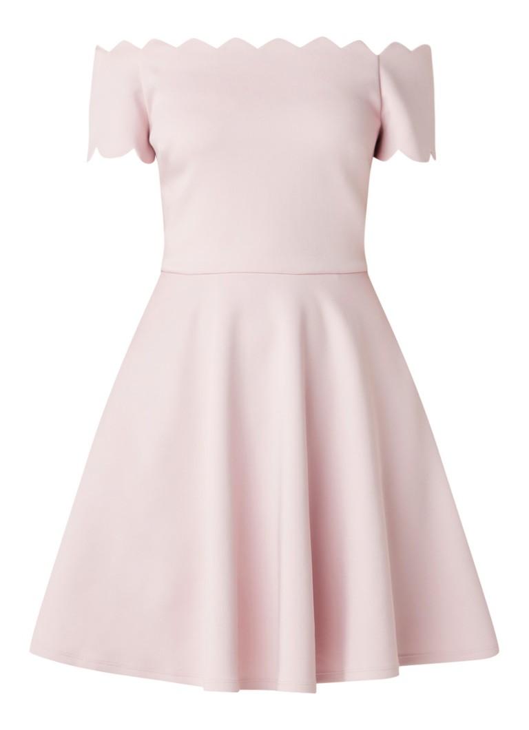 Ted Baker Fellama off shoulder A-lijn jurk met steekzakken roze
