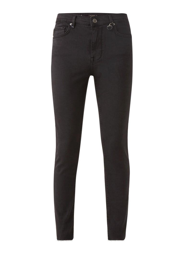 Turnna high waist skinny fit jeans met gerafelde zoom