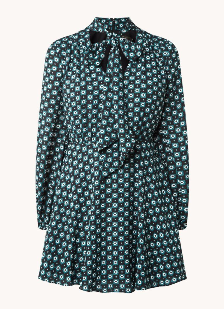 Ted Baker Rocoo mini jurk met bloemenprint en strikkraag online kopen