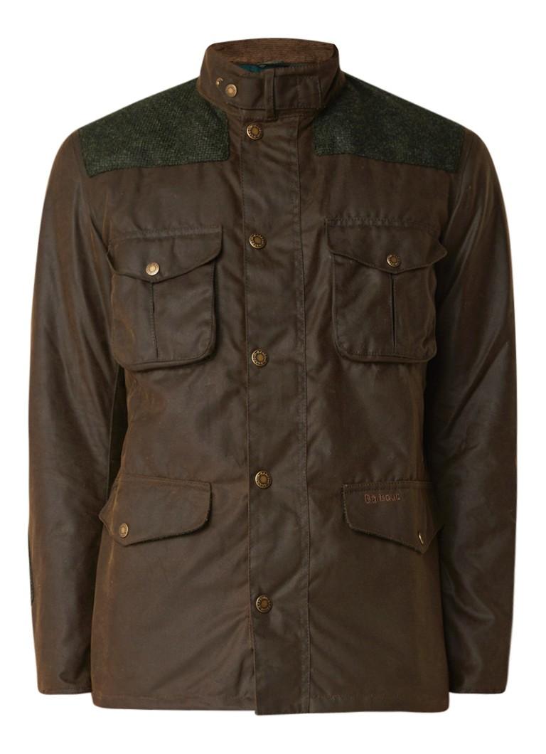 Barbour Tresco waterbestendig field jacket van gewaxt katoen