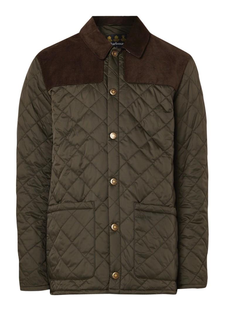Barbour Gillock licht gewatteerde jacket met corduroy detail