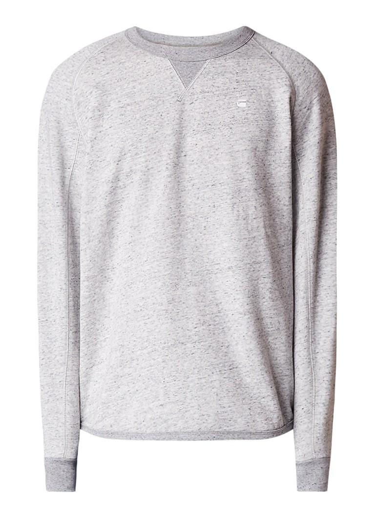 G-Star RAW Calow gemêleerde sweater met raglanmouw