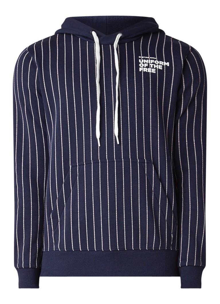G-Star RAW Uniform Of The Free hoodie met tekstopdruk en streepdessin