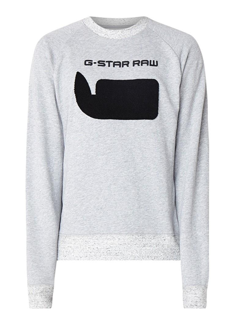 G-Star RAW Revir gemeleerde sweater met logoborduring