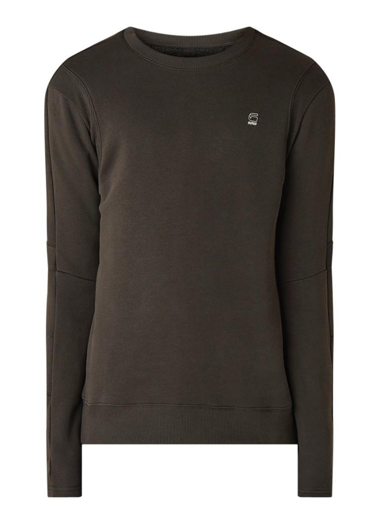 G-Star RAW Sweater met ribgebreide details