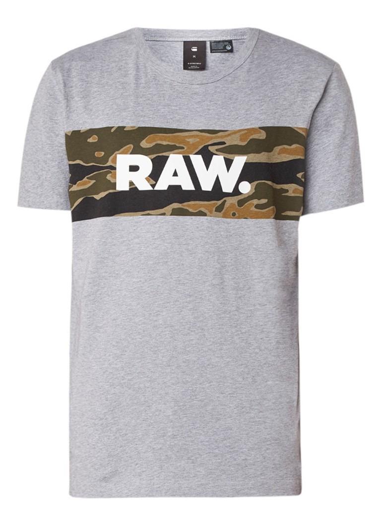 G-Star RAW Tairi T-shirt met logoprint en camouflageprint