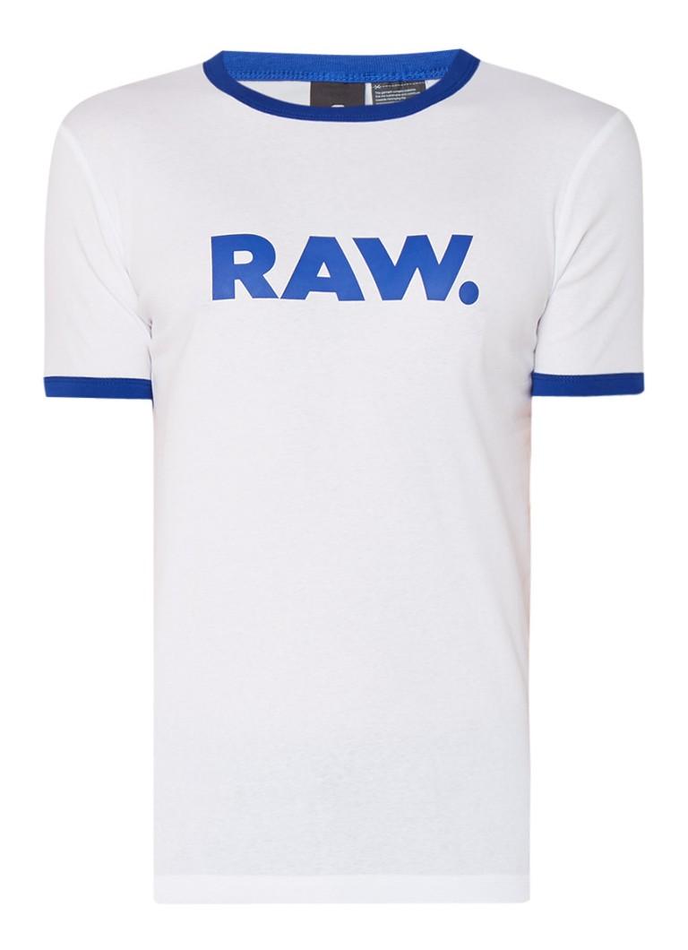 G-Star RAW Slim fit T-shirt met logoprint