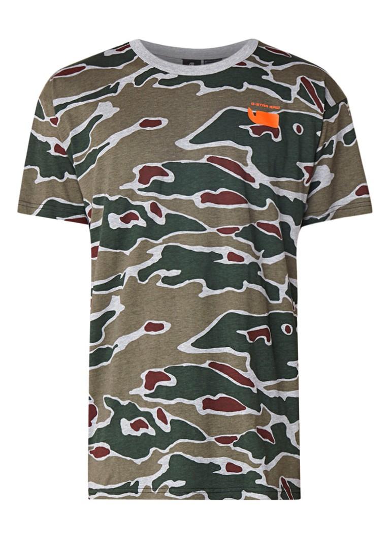 G-Star RAW Sverre T-shirt met camouflagedessin