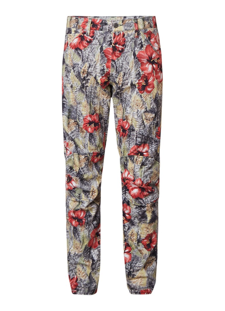 G-Star RAW 5622 3D Elwood X52 tapered fit jeans met Hawaii print