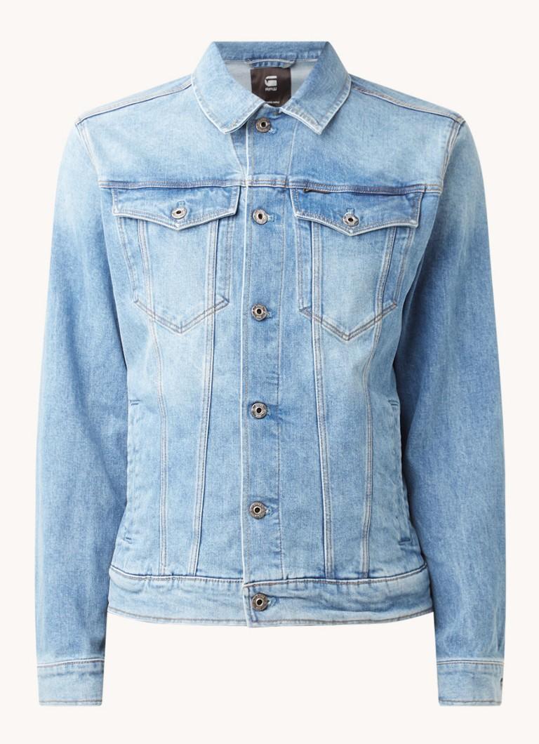 G-Star Raw 3301 spijkerjas met klepzakken en lichte wassing online kopen