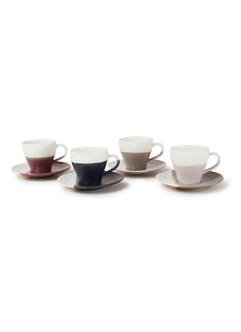 Royal Doulton Coffee Studio espressokop en schotel 11 cl set van 4