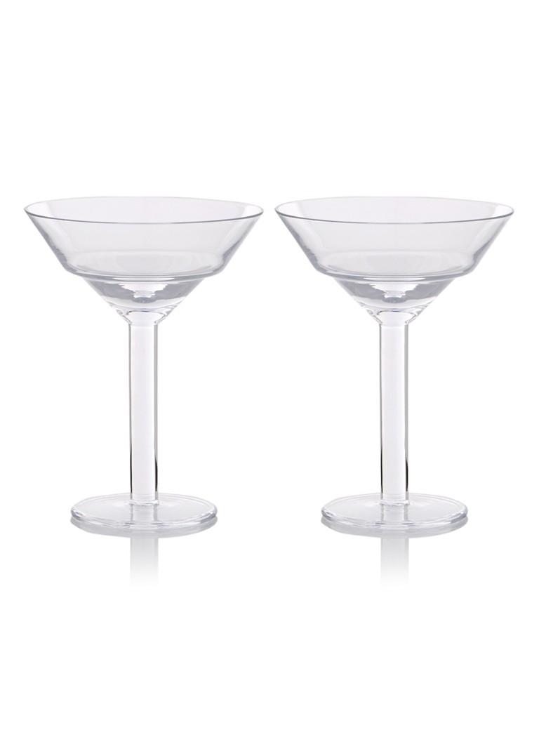 LSA International Mixologist martiniglas set van 2