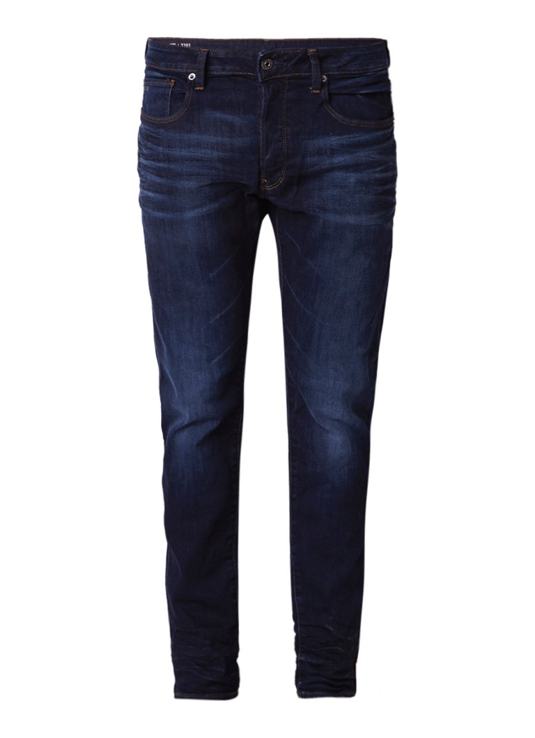 G-Star RAW 3301 mid rise slim fit jeans met faded look