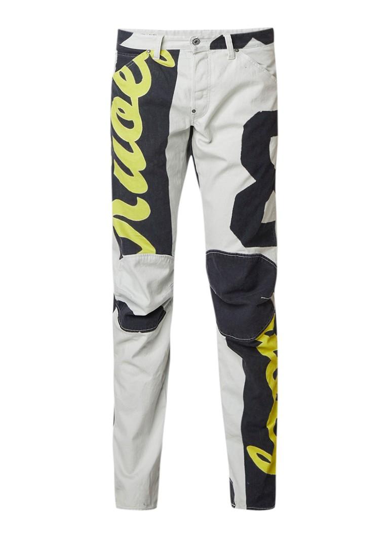 G-Star RAW 5622 Elwood tapered fit jeans met tekstprint
