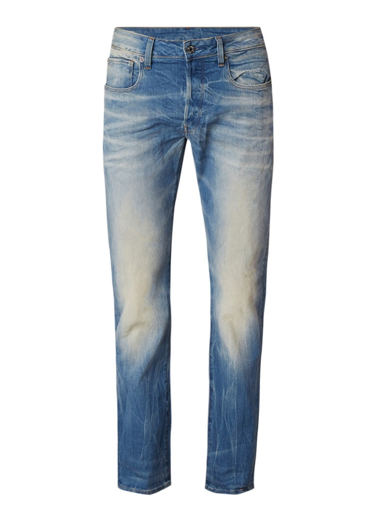 G-Star RAW 3301 Mid rise straight fit jeans met stretch