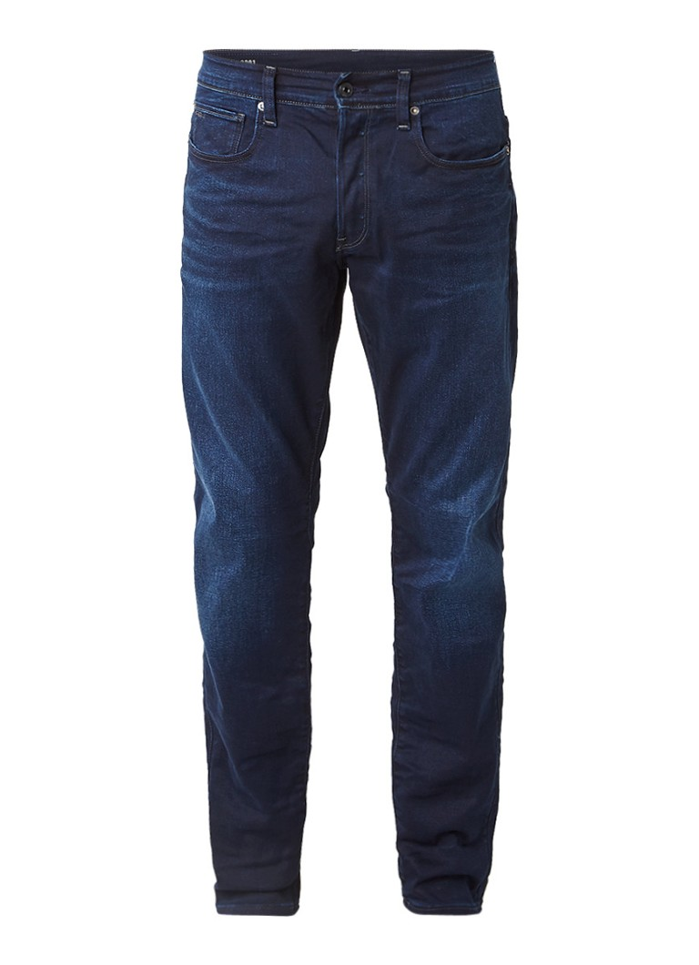 G-Star RAW 3301 Slander tapered fit jeans met donkere wassing