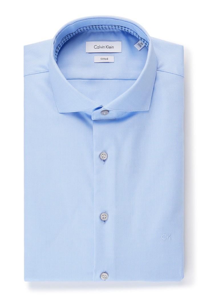 Calvin Klein Fitted overhemd met cut away-kraag en stretch