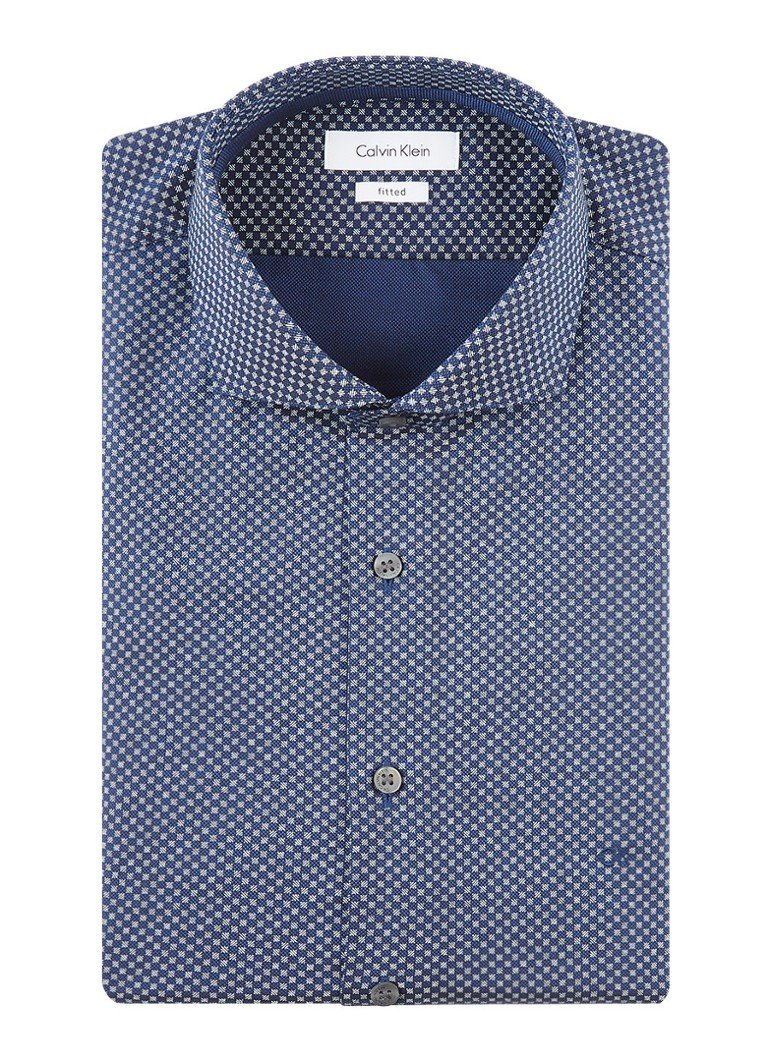 Calvin Klein Fitted overhemd met micro dessin