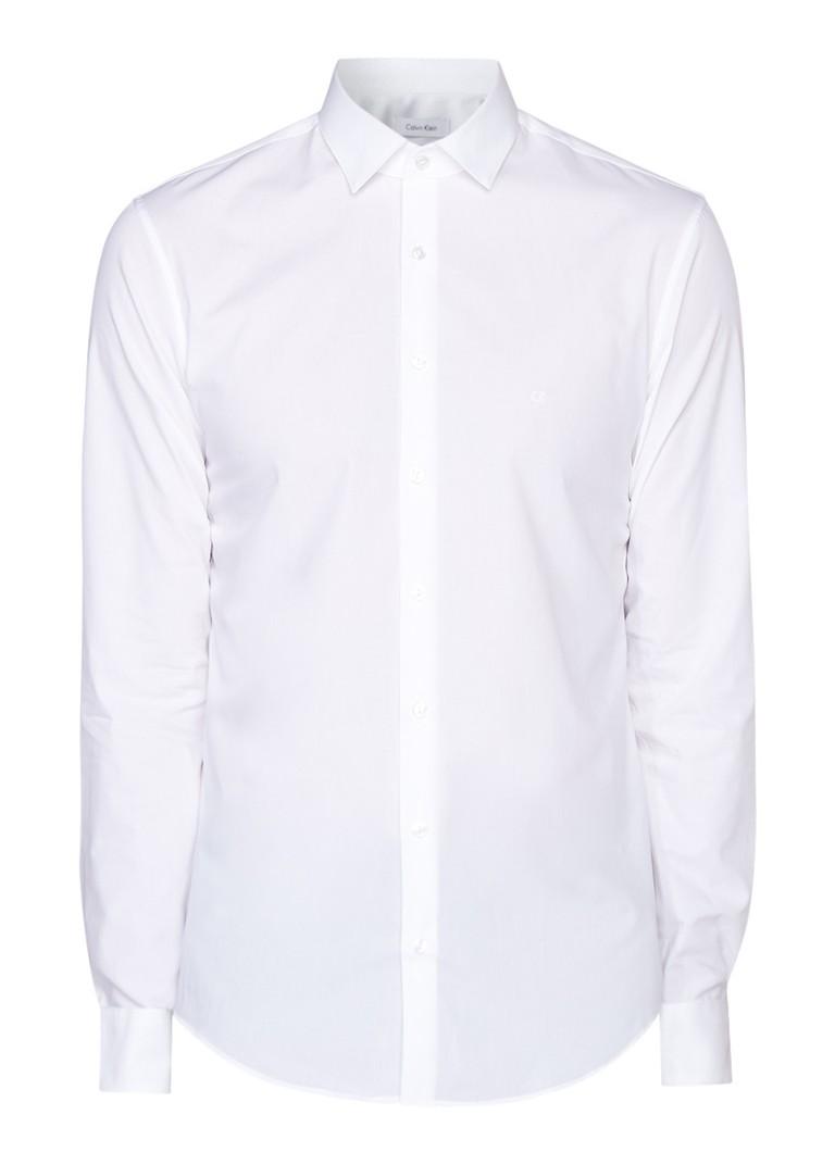 Calvin Klein Bari slim fit overhemd in uni