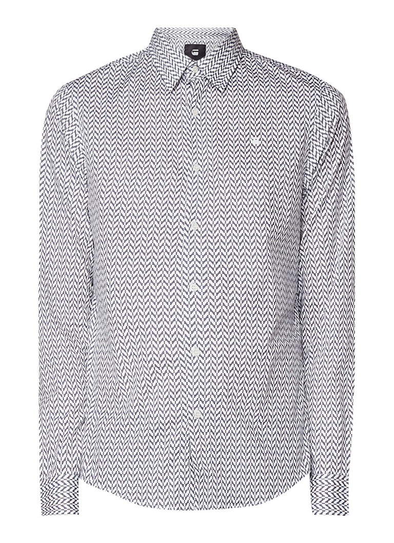 G-Star RAW Core slim fit overhemd met grafisch dessin