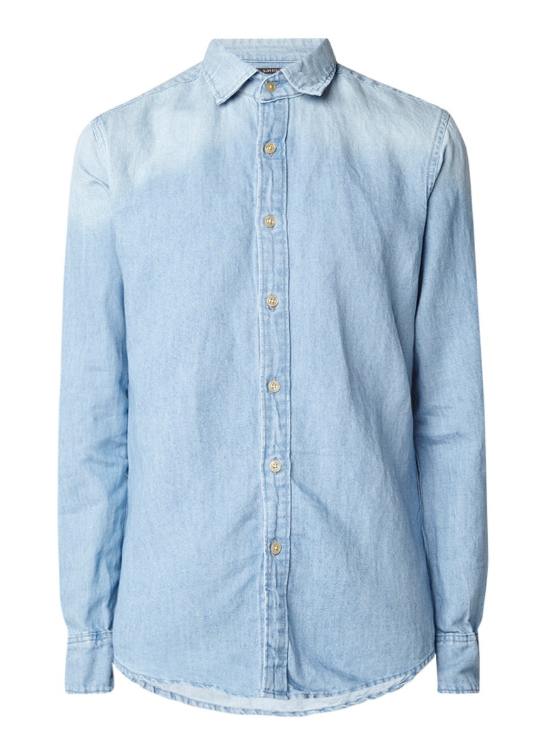 G-Star RAW Bristum slim fit overhemd van denim