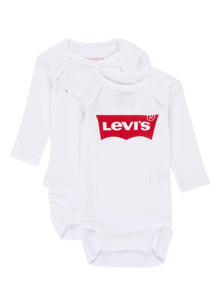 Levi's Rompers met logoprint in 2-pack