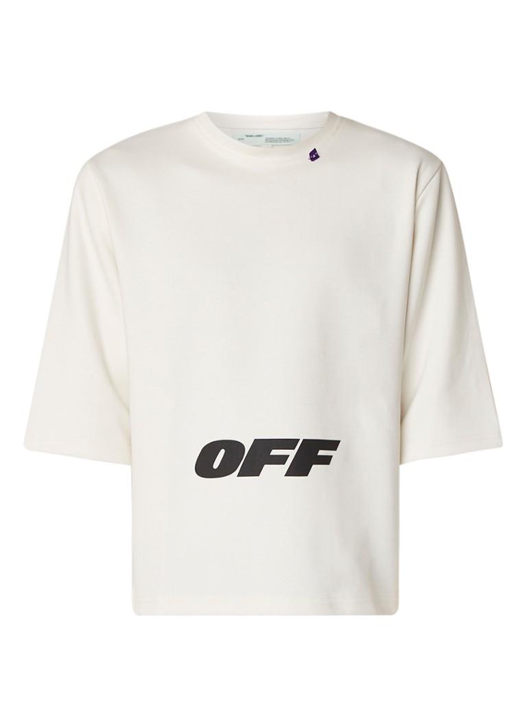 Off-White Sweater met dubbele mouwinzet en logoprint