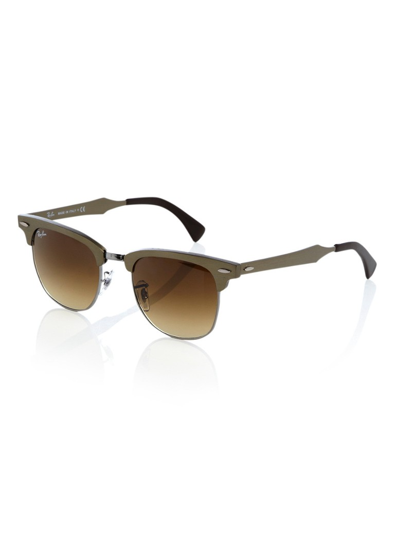 Ray-Ban Unisex Zonnebril Clubmaster Aluminium RB3507