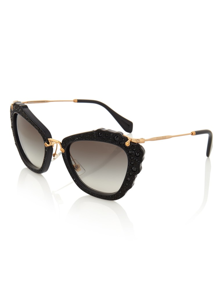 Miu Miu Dameszonnebril Cat-eye MU 04QS