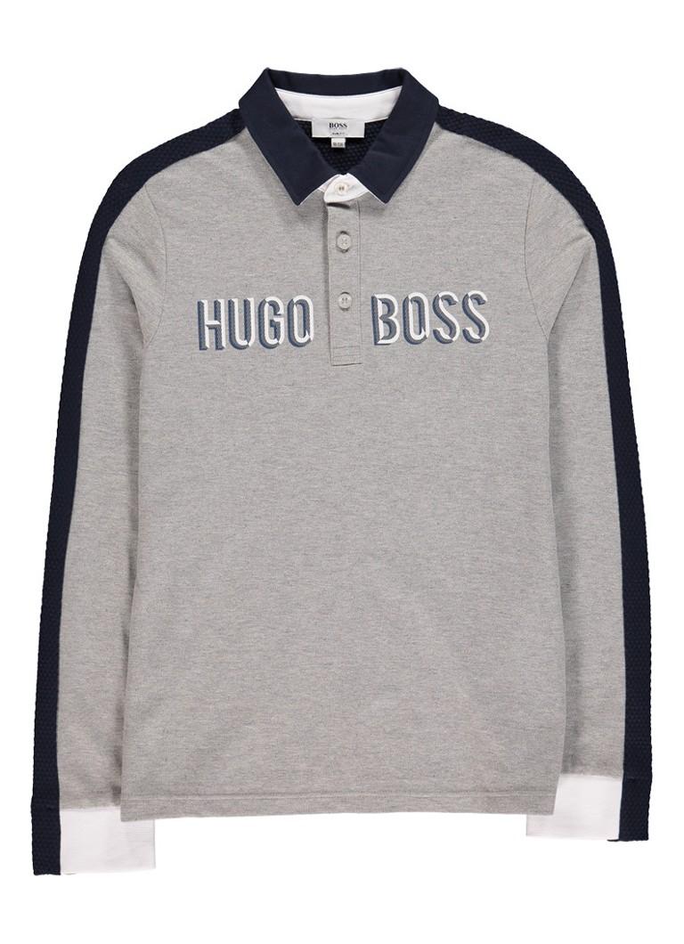 HUGO BOSS Polo met contrasterende bies en logoprint