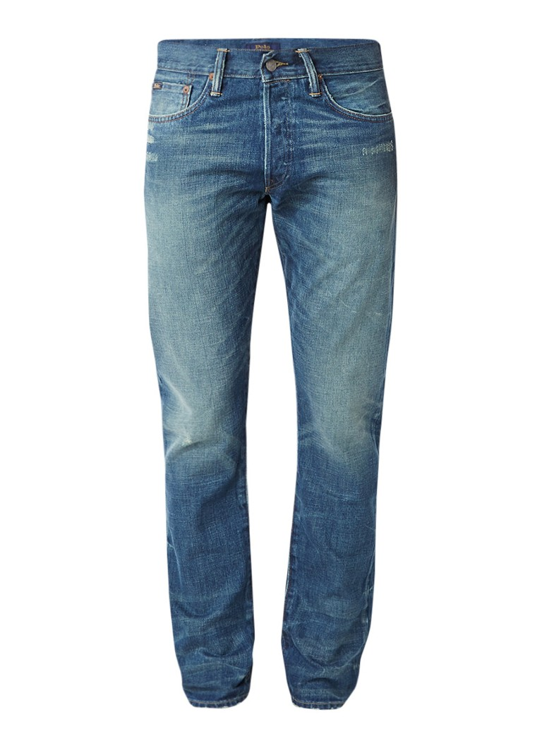 Ralph Lauren Sullivan slim fit jeans met destroyed details
