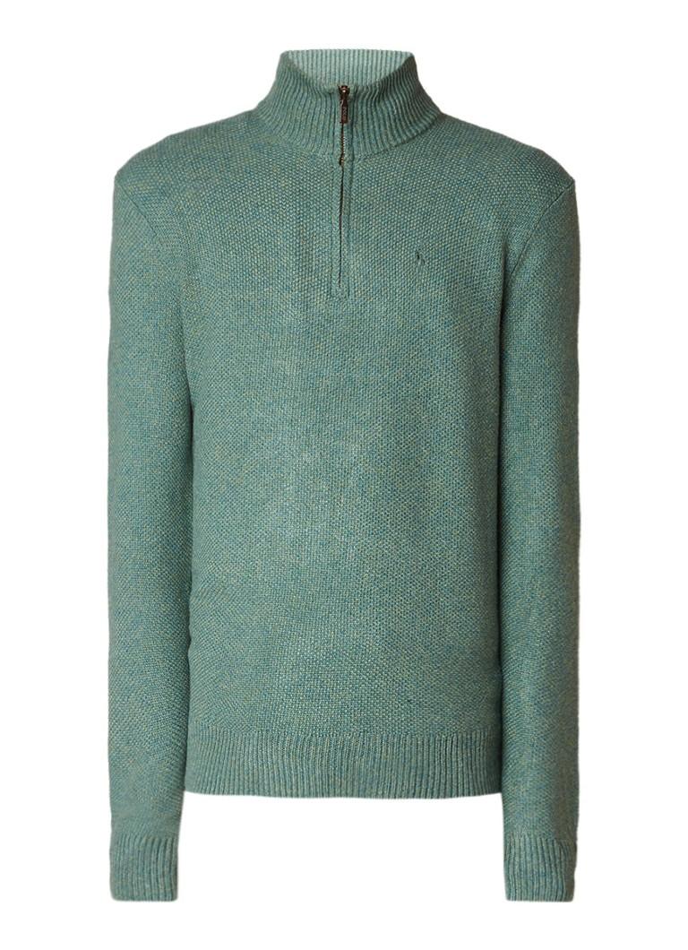 Ralph Lauren Gebreide trui van zijde met halve rits