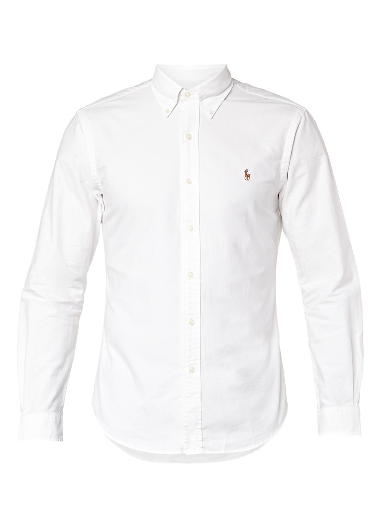 Polo Ralph Lauren Stevig wit slim fit overhemd
