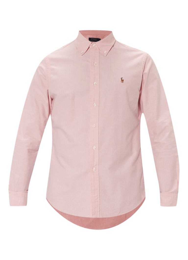 Polo Ralph Lauren Regular fit overhemd in roze met fijn motief
