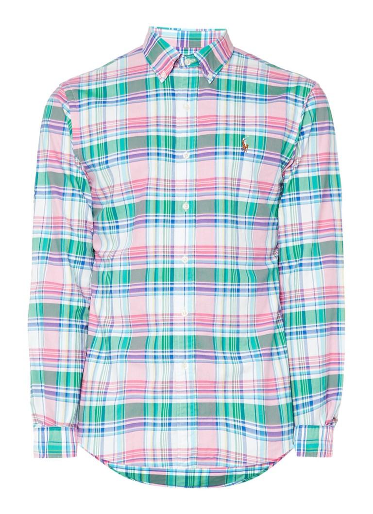 Ralph Lauren Slim fit overhemd met ruitdessin