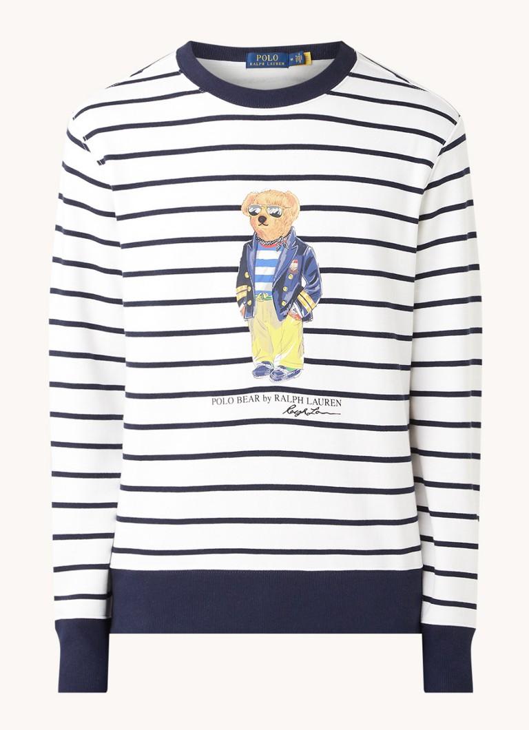 Ralph Lauren Bear sweater met streepprint