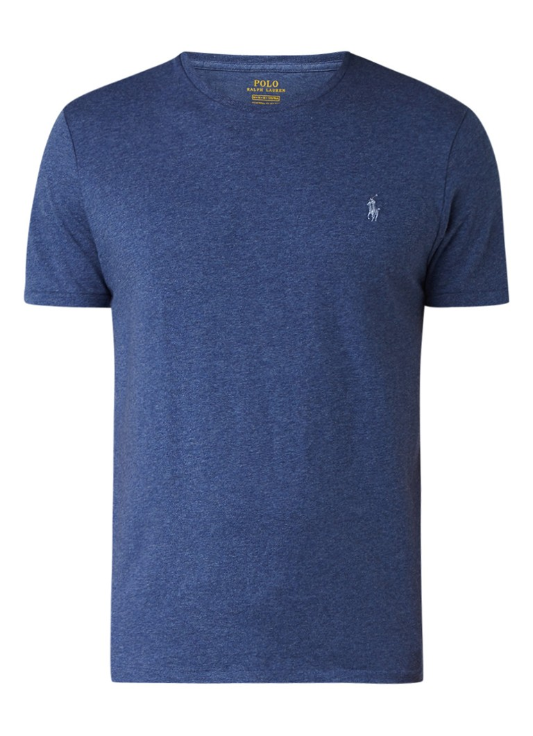 Ralph Lauren Custom slim fit T-shirt met merkboduring
