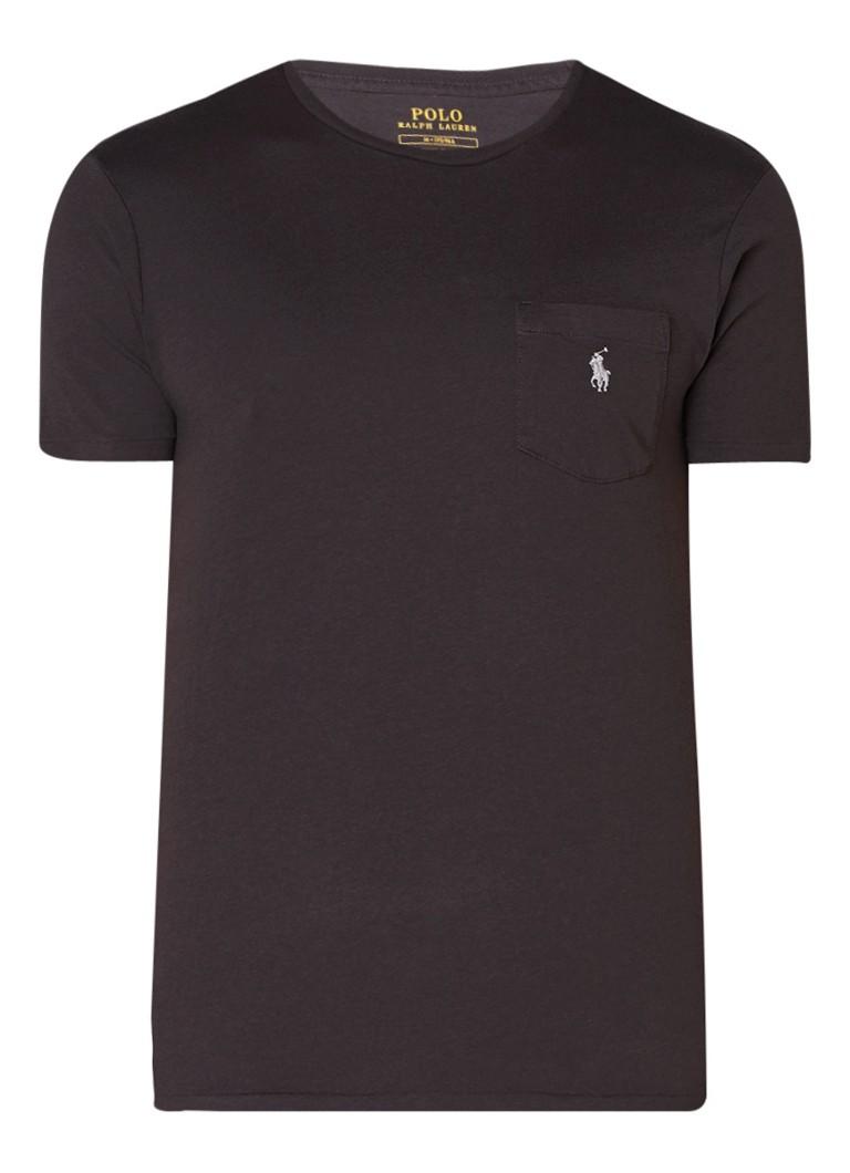 Ralph Lauren Slim fit T-shirt met borstzak en borduring