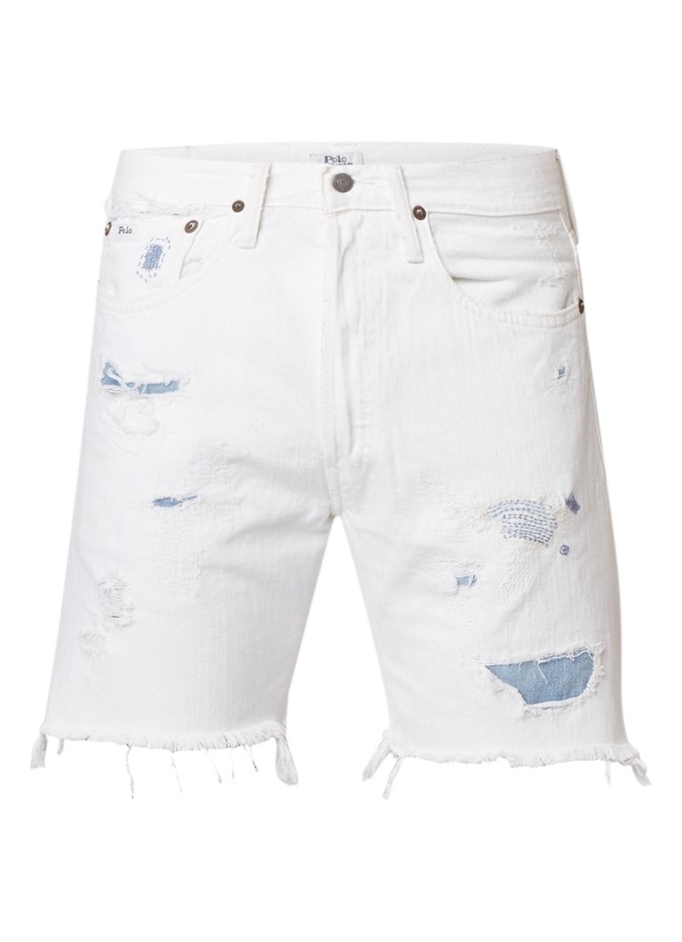 Ralph Lauren Denim shorts met destroyed details