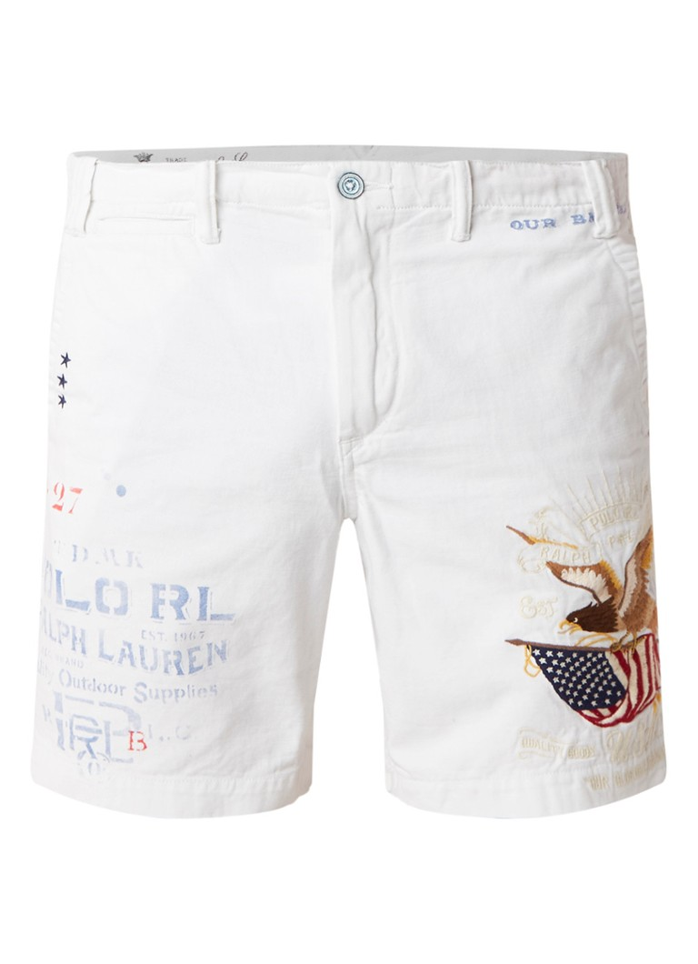 Ralph Lauren Straight fit denim shorts met borduring