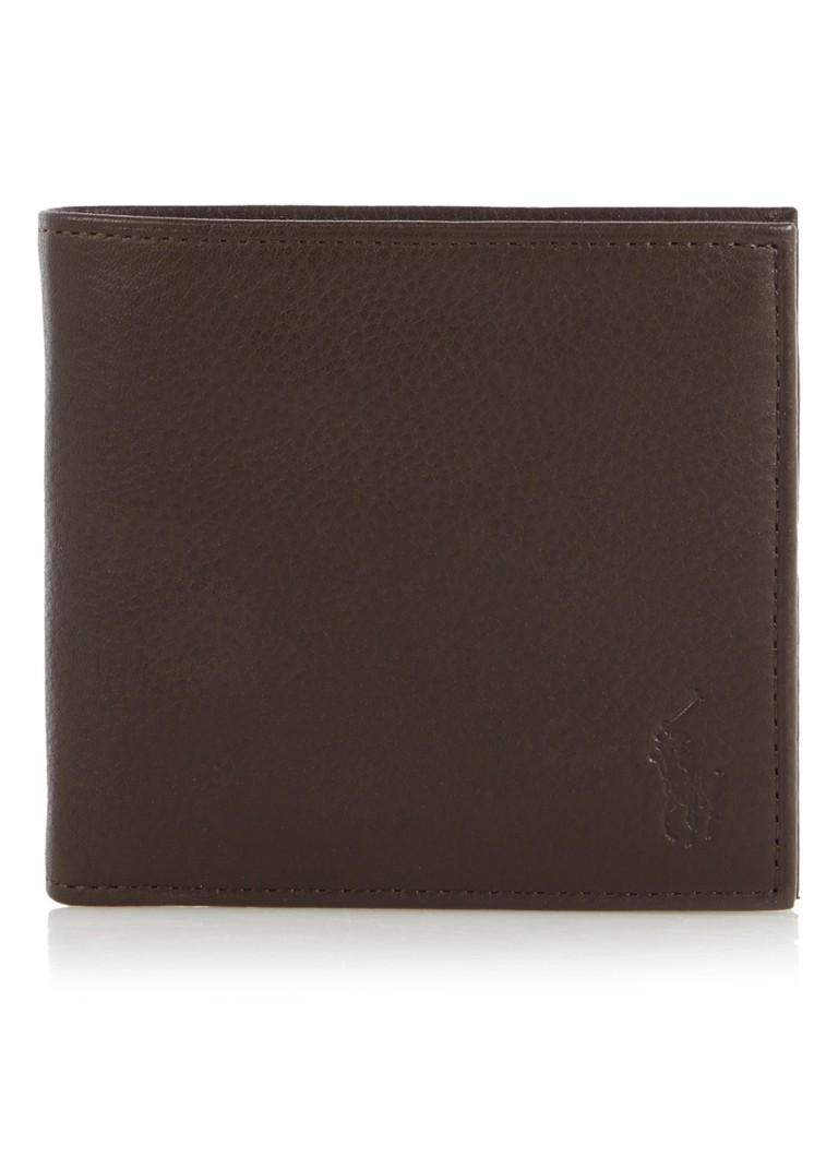 Ralph Lauren Billfold portemonnee in donkerbruin leer