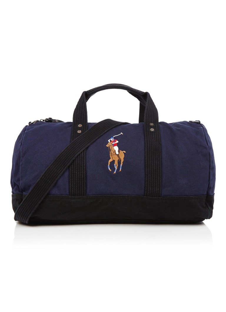 Ralph Lauren Canvas Big Pony weekendtas met merkborduring