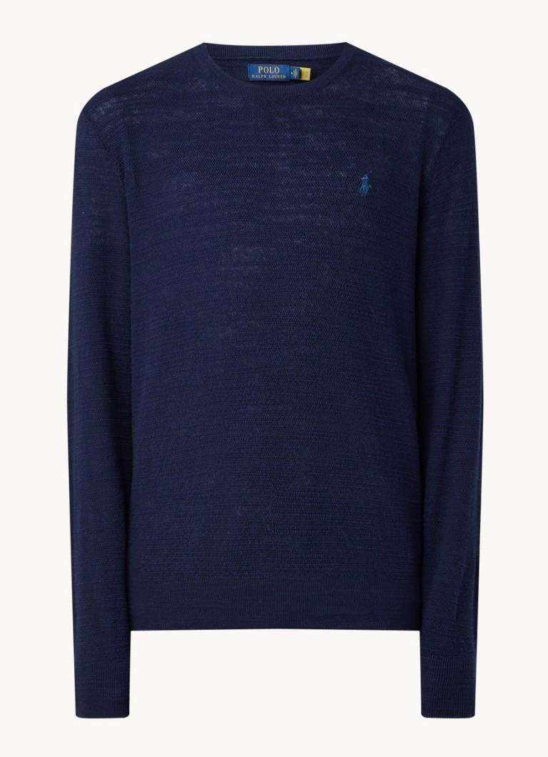 Ralph Lauren Pullover in linnenblend met textuur