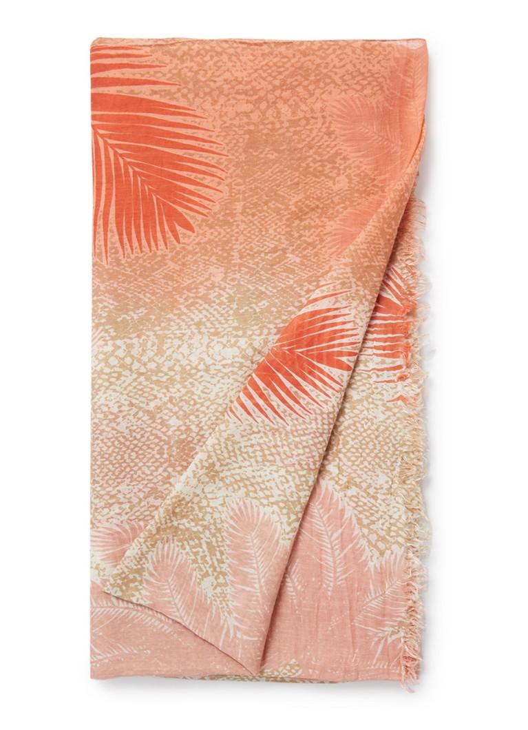 Barts Blavet sjaal met dessin 190 x 100 cm